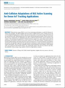 Anti-collision adaptations of BLE active scanning for dense IoT