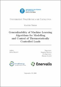 Generalizability of machine learning algorithms for
