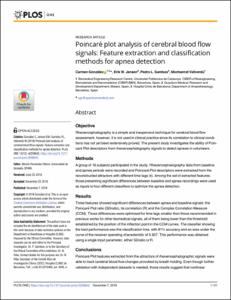 Poincaré plot analysis of cerebral blood flow signals
