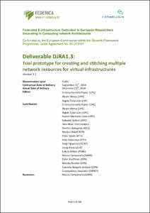Deliverable DJRA1 3: Tool prototype for creating and stitching