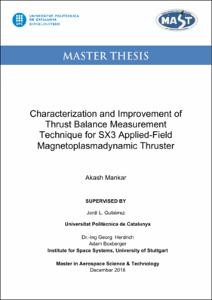 Characterization and Improvement of Thrust Balance
