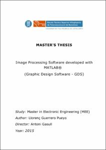 Thesis on image processing using matlab business administration coursework