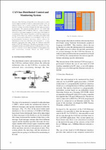 CAN bus Distributed Control and Monitoring System