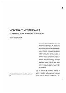 Moderna y mediterr nea la arquitectura a orillas de un mito for Moderna architettura mediterranea