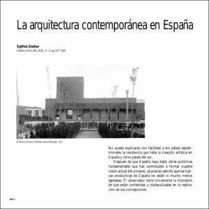 La arquitectura contempor nea en espa a for Arquitectura islamica en espana
