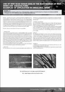 Use of side scan sonar (SSS) in the management of fisheries