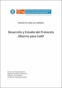 Desarrollo y Estudio del protocolo Observe para CoAP
