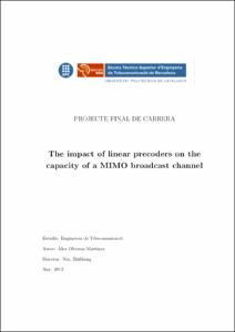 The impact of linear precoders on the capacity of a MIMO broadcast