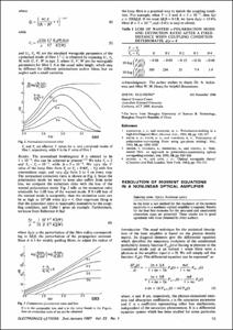 Resolution of moment equations in a nonlinear optical amplifier