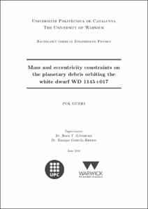 Mass and eccentricity constraints on the planetary debris ...
