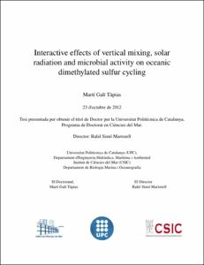 Interactive effects of vertical mixing, solar radiation and