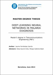 Deep learning neural networks in malaria diagnosis