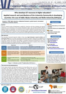 Who develops ICT resources in higher education? Applied