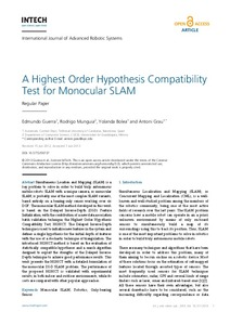 A Highest order hypothesis compatibility test for monocular