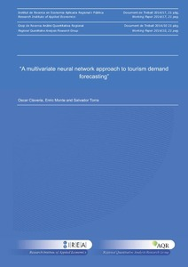 A multivariate neural network approach to tourism demand forecasting