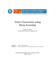 Voice conversion using Deep Learning