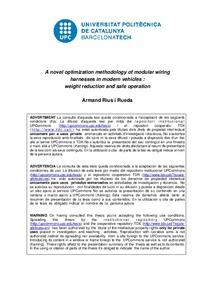 a novel optimization methodology of modular wiring harnesses in rh upcommons upc edu Motorcycle Wiring Harness Automotive Wiring Harness