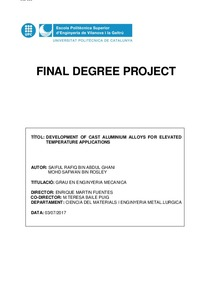 FINAL DEGREE PROJECT
